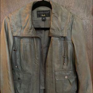 Soft gray leather jacket